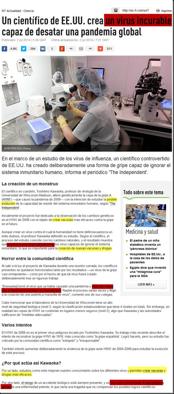 """Nuevo virus H1N1 """"incurable"""" creado por selección artificial en laboratorio Image_thumb"""
